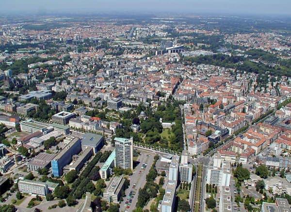 Strasbourg vue du ciel