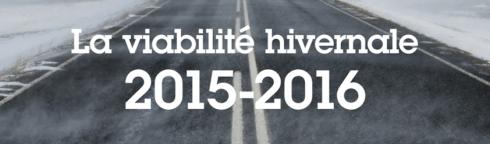 La viabilité hivernale 2015-2016 – Ministère de l'Écologie, du Développement durable et de l'Énergie
