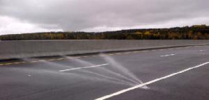Pont déglacé sans saleuse
