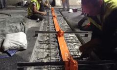 Des joints de chaussée réparés en un temps record